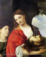 Judith with the Head of Holofernes painting reproduction, Titian