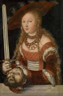 Judith with the Head of Holofernes painting reproduction, Lucas Cranach