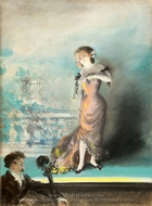 Julie Bonbon painting reproduction, Everett Shinn