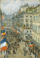 July Fourteenth, Rue Daunou, 1910 by Childe Hassam