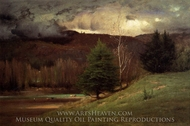 Kearsarge Village painting reproduction, George Inness