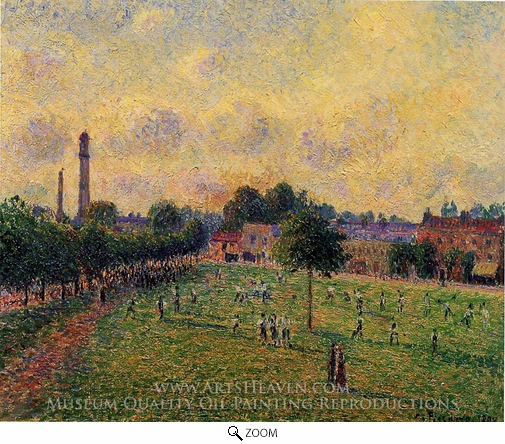 Painting Reproduction of Kew Green, Camille Pissarro