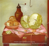 Kitchen Table by Fernando Botero