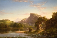 L'Allegro painting reproduction, Thomas Cole