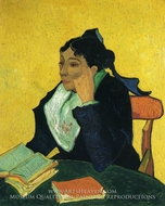 L'Arlesienne, Portrait of Madame Ginoux by Vincent Van Gogh