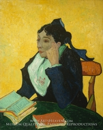 L'Arlesienne, Portrait of Madame Ginoux painting reproduction, Vincent Van Gogh