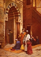 L'Aveugle A La Mosquee painting reproduction, Arthur Ferraris