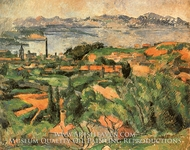 L'Estaque and the Gulf of Marseilles by Paul Cezanne