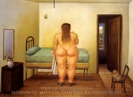 La Alcoba painting reproduction, Fernando Botero