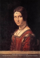 La Belle Ferroniere (Portrait of a Lady from the Court of Milan) by Leonardo Da Vinci