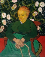 La Berceuse, Portrait of Madame Roulin painting reproduction, Vincent Van Gogh