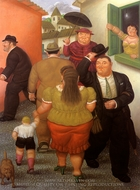 La Calle painting reproduction, Fernando Botero