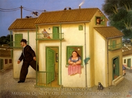 La Casa painting reproduction, Fernando Botero