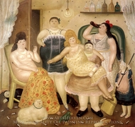 La Casa de Mari Duque painting reproduction, Fernando Botero
