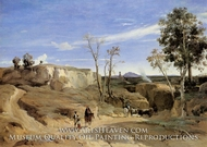 La Cervara, the Roman Countryside by Jean-Baptiste Camille Corot