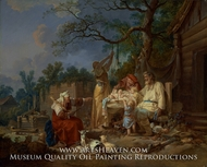 La Culla Russa (The Russian Cradle) painting reproduction, Jean Baptiste Le Prince
