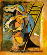 La Femme Aux Pigeons by Pablo Picasso (inspired by)