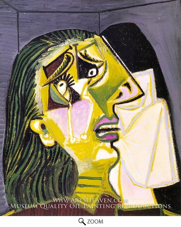Painting Reproduction of La Femme Qui Pleure, Pablo Picasso (inspired by)