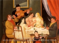 La Fiesta painting reproduction, Fernando Botero