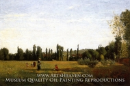 La Larenne-Saint-Hilaire, View from Champigny painting reproduction, Camille Pissarro