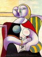 La Lecture painting reproduction, Pablo Picasso (inspired by)