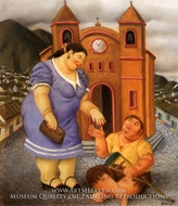La Limosna painting reproduction, Fernando Botero