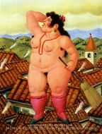 La Loca painting reproduction, Fernando Botero