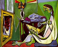 La Muse (Jeune Femme Dessinant) painting reproduction, Pablo Picasso (inspired by)
