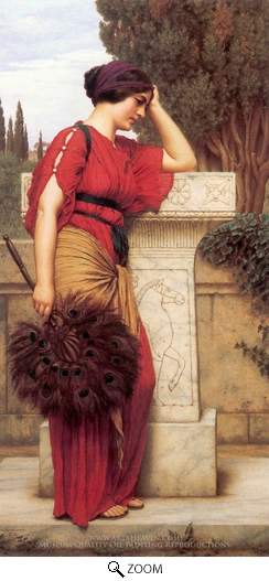 Painting Reproduction of La Pensierosa, John William Godward