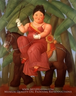 La Primera Dama painting reproduction, Fernando Botero