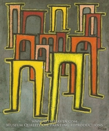 La Revolution des Viaducs by Paul Klee