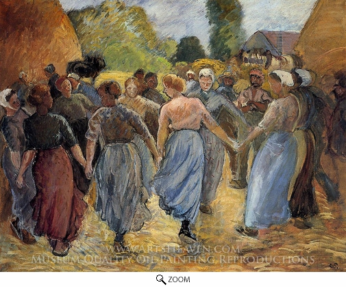 Painting Reproduction of La Ronde, Camille Pissarro