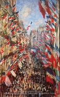 La Rue Montorgueil, Decked out with Flags, 30 June 1878 by Claude Monet