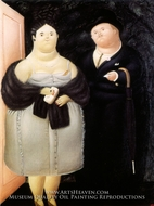 La Visita painting reproduction, Fernando Botero
