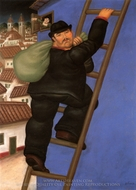 Ladron painting reproduction, Fernando Botero