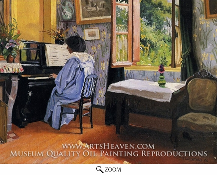 Painting Reproduction of Lady at the Piano, Felix Vallotton