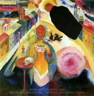Lady in Moscow painting reproduction, Wassily Kandinsky