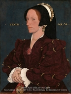 Lady Lee (Margaret Wyatt) by Hans Holbein, The Younger