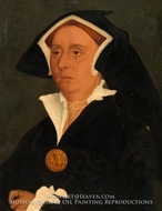 Lady Rich (Elizabeth Jenks) painting reproduction, Hans Holbein, The Younger