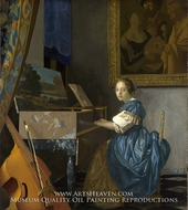 Lady Seated at a Virginal by Jan Vermeer