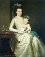 Lady Williams and Child painting reproduction, Ralph Earl