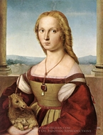 Lady with a Unicorn painting reproduction, Raphael Sanzio