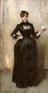 Lady with the Rose (Charlotte Louise Burckhardt) by John Singer Sargent