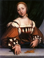 Lais of Corinth painting reproduction, Hans Holbein, The Younger