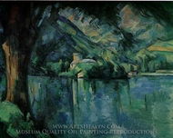 Lake Annecy painting reproduction, Paul Cezanne