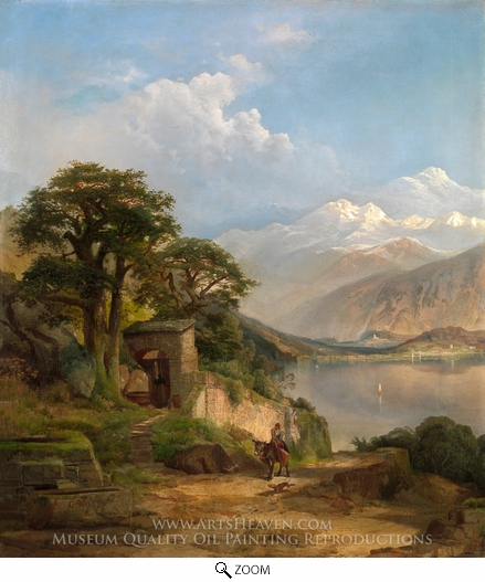 Painting Reproduction of Lake Como, Thomas Moran