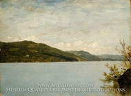 Lake George, 1872 painting reproduction, John Frederick Kensett