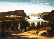 Lake George and the Village of Caldwell painting reproduction, Thomas Chambers