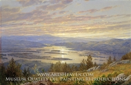 Lake Squam from Red Hill painting reproduction, William Trost Richards