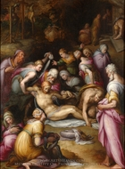 Lamentation of the Dead Christ painting reproduction, Giovanni Battista Naldini